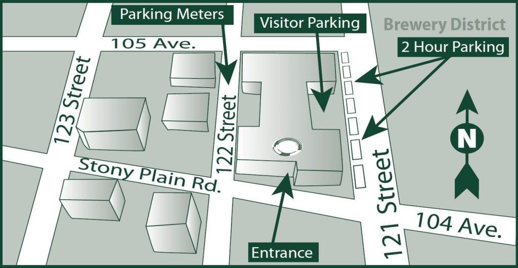 Office Map - Murray Stadnyk Law Office Edmonton